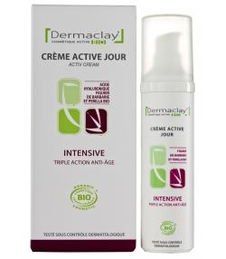 Crème active jour intensive triple action BIO acide hyaluronique & figuier de barbarie - 50ml - Dermaclay
