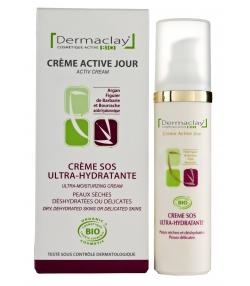 Crème active jour SOS ultra-hydratante BIO argan & figuier de barbarie - 50ml - Dermaclay