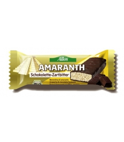 Gefüllte BIO-Zartbitterschokolade mit Amaranth - 25g - Allos