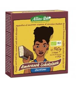 Barre à l'amarante soufflée enrobée de chocolat noir BIO - 5x28g - Allos
