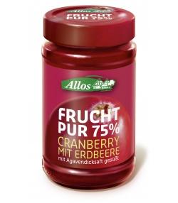 Confiture de canneberges & fraises BIO - 250g - Allos