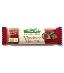 Chocolat noir fourré à la pâte d'amandes & à la nougatine BIO - 35g - Allos