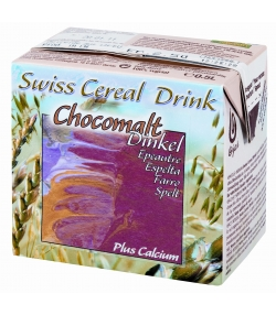 Boisson à l'épeautre chocomalt plus calcium BIO Swiss cereal-drink - 500ml - Soyana