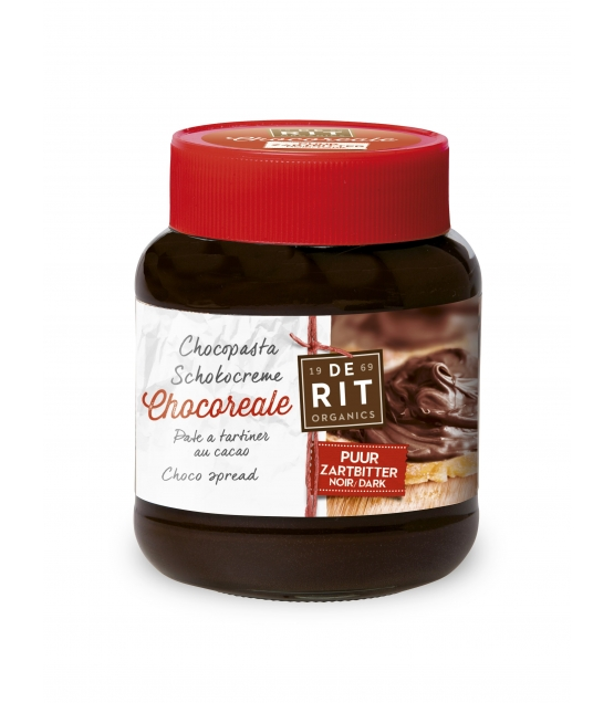 Pâte à tartiner au cacao noir BIO Chocoreale - 350g - De Rit