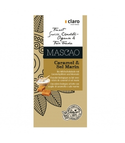 BIO-Milchschokolade mit Karamellsplittern & Meersalz Mascao - 100g - Claro