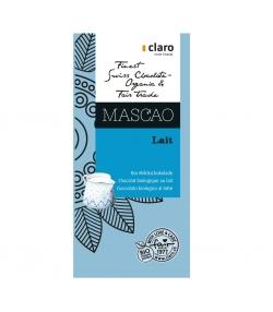 Chocolat BIO au lait Mascao - 100g - Claro