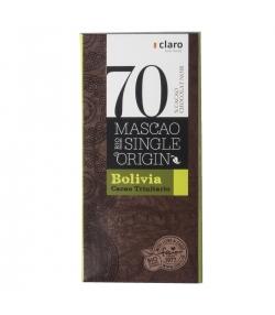 Chocolat BIO noir 70% Mascao Single Origin Bolivia - 100g - Claro