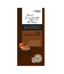 Dunkle BIO-Schokolade 85% Mascao - 100g - Claro
