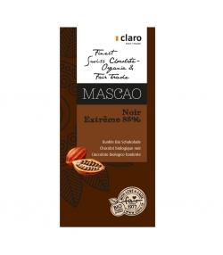 Chocolat BIO noir 85% Mascao - 100g - Claro
