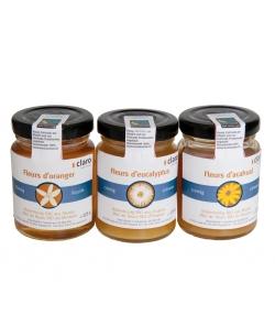 Trio de miels  BIO - 3x125g - Claro