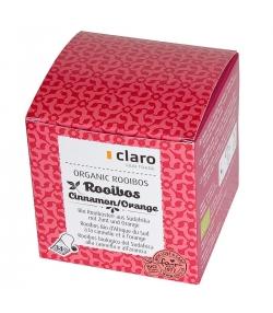 Rooibos BIO d'Afrique du Sud à la canelle & à l'orange - 14 sachets - Claro