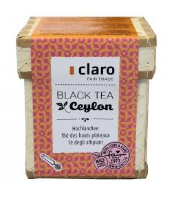 Thé noir BIO des hauts plateaux Ceylon - 100g - Claro