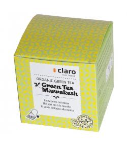 Thé vert BIO à la menthe Green Tea Marrakesh - 14 sachets - Claro