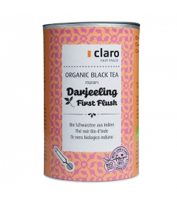 Thé noir BIO d'Inde Darjeeling First Flush - 100g - Claro
