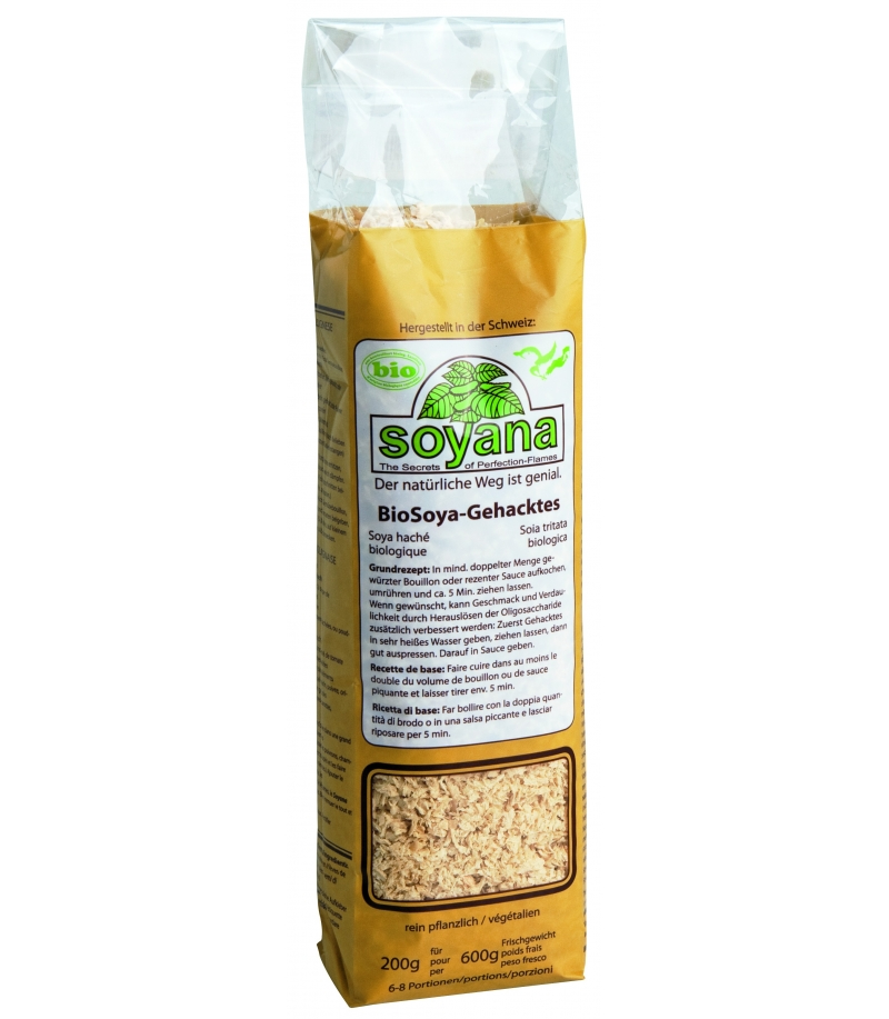 Prot ine de soja hach e bio 200g soyana for Proteine de soja