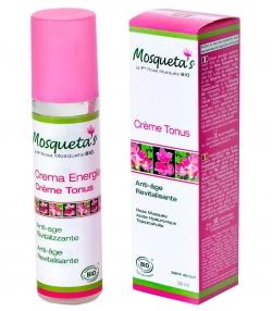 Crème tonus anti-âge & revitalisante BIO rose musquée, acide hyaluronique & tepezcohuite - 50ml - Mosqueta's