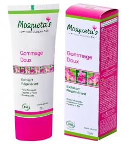 Gommage doux exfoliant & régénérant BIO rose musquée, graines de rose & poudre de riz - 75ml - Mosqueta's