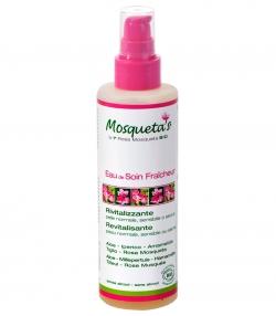 Eau de soin fraîcheur revitalisante BIO rose musquée, aloe vera & hamamélis - 200ml - Mosqueta's