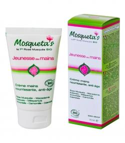 BIO-Handcreme nährend & Anti-age Wildrose, Macadamia & Edelweis - 75ml - Mosqueta's