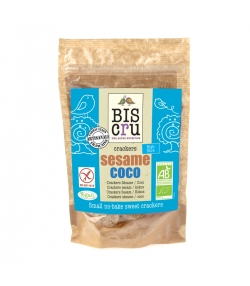 Petits crackers sans cuisson sésame & coco BIO – 70g – Biscru