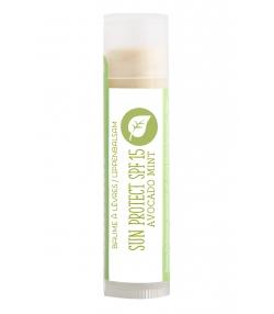Baume à lèvres solaire IP 15 avocat & menthe - 4ml - Cocooning Nature
