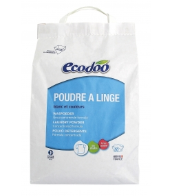 Ökologisches Waschmittel Pulver BIO-Lavendel - 80 Waschgänge - 3kg - Ecodoo