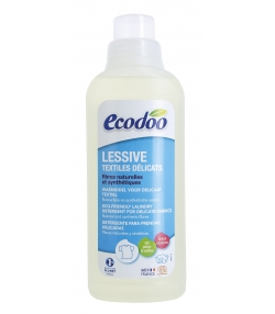 Lessive textiles délicats écologique lavande BIO - 24 lavages - 750ml - Ecodoo