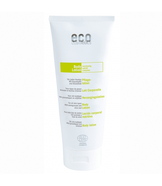 Reichhaltige BIO-Pflegelotion Granatapfel & Olivenblatt - 200ml - Eco Cosmetics