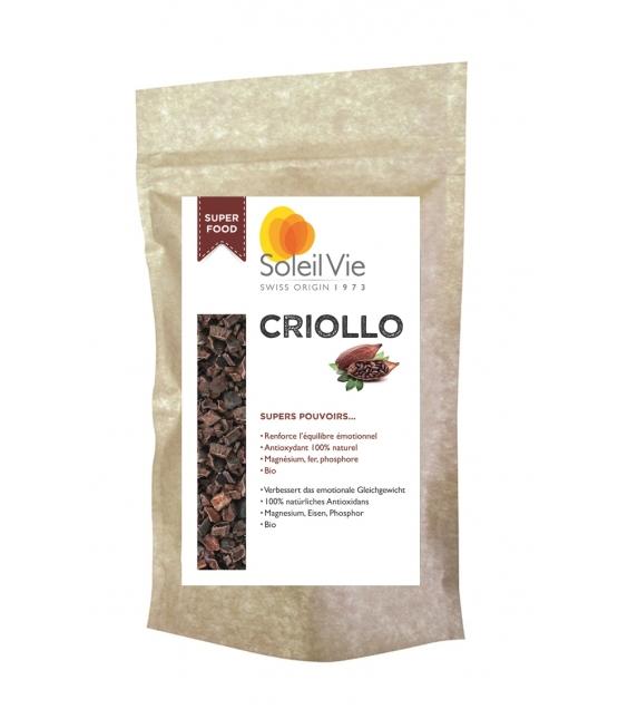 Criollo éclats de fèves de cacao cru BIO - 120g - Soleil Vie