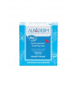 Savon apaisant BIO palmarosa & calendula - 100g - Alpaderm