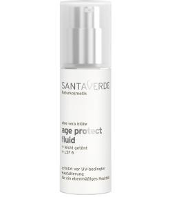 Fluide teinté anti-âge BIO aloe vera - 30ml - Santaverde Age Protect