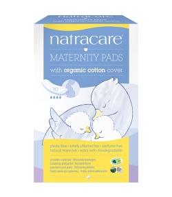 Serviettes hygiéniques de maternité BIO – 10 pièces – Natracare