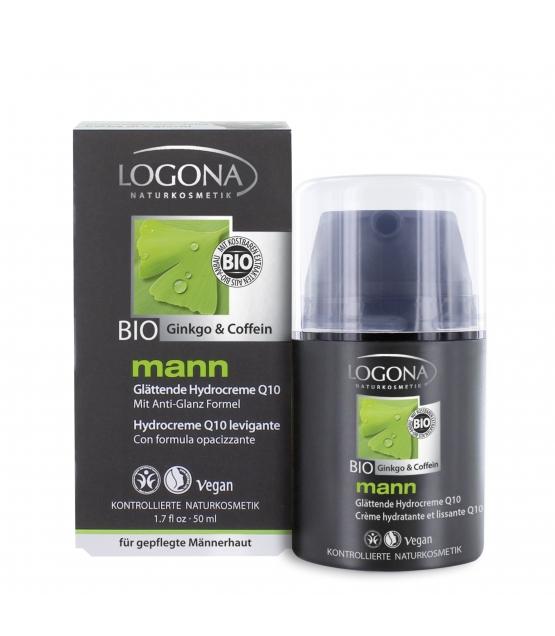 Crème hydratante & lissante Q10 homme BIO ginkgo & caféine - 50ml - Logona Mann