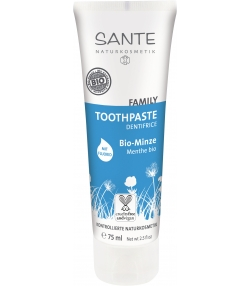 Dentifrice avec fluorure famille BIO menthe – 75ml – Sante
