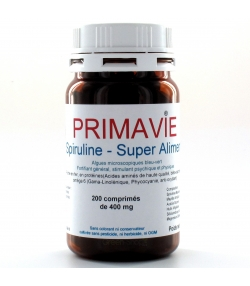 Natürliche Spirulina - 200 Tabletten - 400mg - D&A Laboratoire