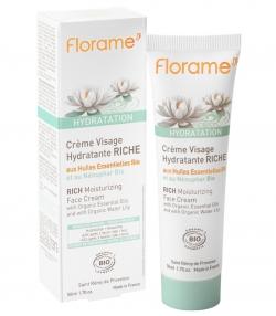 Crème visage hydratante riche BIO nénuphar - 50ml - Florame