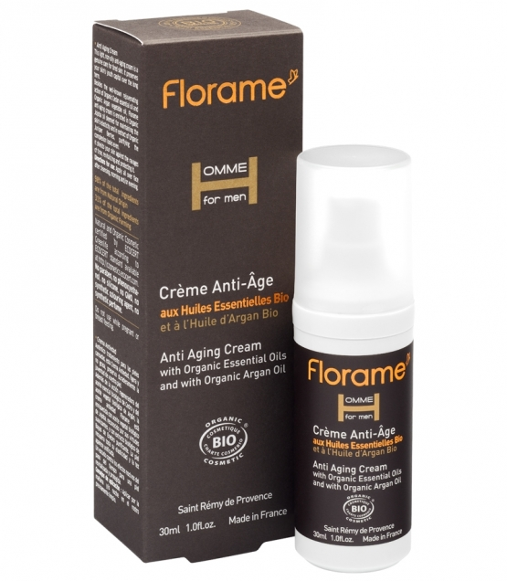 cr me anti ge homme bio c dre argan 30ml florame. Black Bedroom Furniture Sets. Home Design Ideas