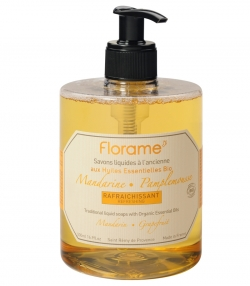 Savon liquide rafraîchissant BIO mandarine & pamplemousse - 500ml - Florame