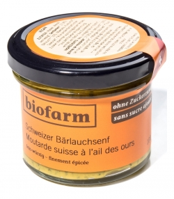 Moutarde suisse à l'ail des ours BIO - 100g - Biofarm