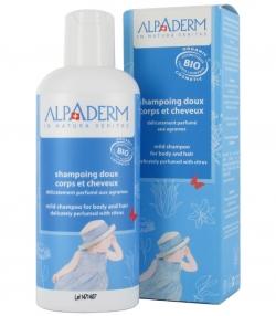 Mildes BIO-Shampoo für Körper & Haare Zitrus - 200ml - Alpaderm