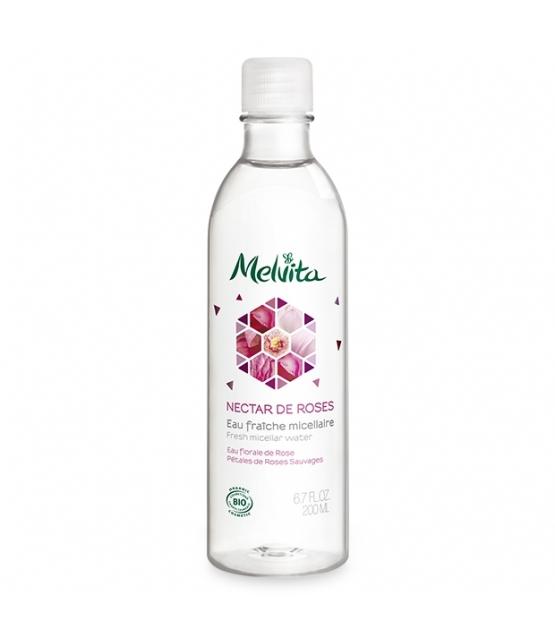Mizellar BIO-Reinigungswasser Rose - 200ml - Melvita Nectar de Roses