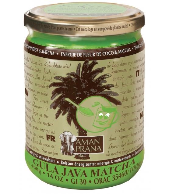 Boisson énergisante Matcha & sucre de fleur de noix de coco BIO – 400g – Aman Prana