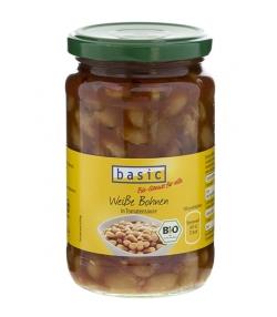 Haricots blancs à la sauce tomate en bocal BIO - 350g - Basic