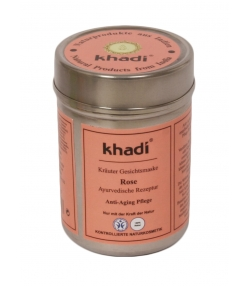 Masque visage ayurvédique naturel rose - 50g - Khadi