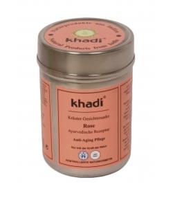 Masque visage ayurvédique naturel rose - 50g - Khadi