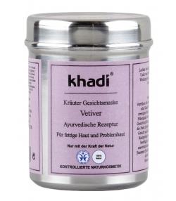 Natürliche Ayurvedische Gesichtsmaske Vetiver - 50g - Khadi