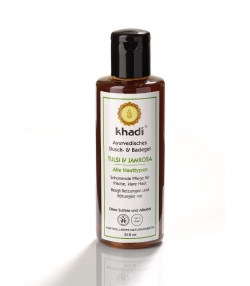 Gel douche & bain ayurvédique BIO tulsi & jamrosa - 210ml - Khadi