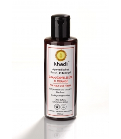 Gel douche & bain ayurvédique BIO grenade & orange - 210ml - Khadi