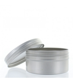 Boîte en aluminium 100ml avec couvercle à vis - 1 pièce - Aromadis