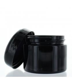 Pot en verre noir 50ml avec couvercle à vis noir - 1 pièce - Aromadis